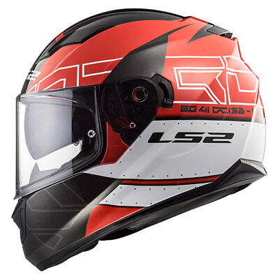 LS2 Stream EVO FF320 KUB Red / Black Motorcycle Full Face Helmet | All Sizes