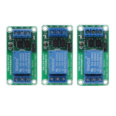5/12/24V 1 Channel Relay Module with Optocoupler High and Low Level Trigger Hot