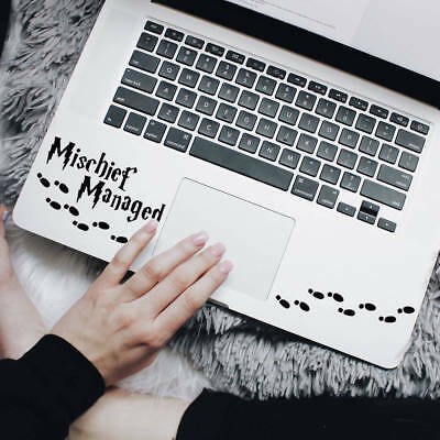Wall Stickers custom Mischief Managed - Harry Potter for laptop car Macbook