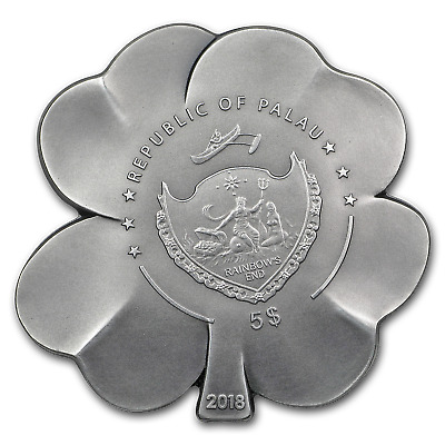 2018 Palau 1 oz Silver Antique Finish Silver Fortune - SKU#159758
