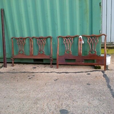 Beautiful Antique Style Old Wooden Bedstead & footstead in Gorgeous design.Used