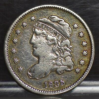 1835 Half Dime - Small Date, Large 5 - VF Details (#11464)