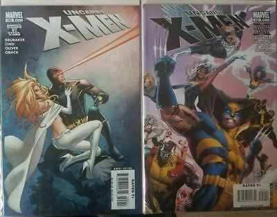 Uncanny X-Men - Lot of 2 Issues - #499 - 500 - Marvel Comics (2008)