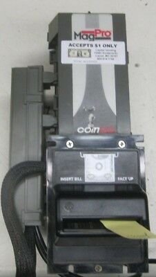 Coinco Mag 50B Dollar Bill Acceptor Validator $1 only Bottler mask 117v backup