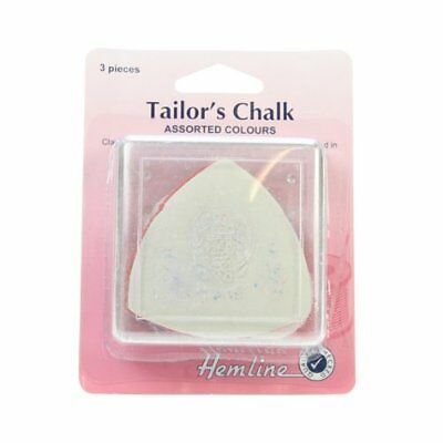 Hemline - Assorted Colours Tailors Chalk - 3 Piece Pack Blue White Red