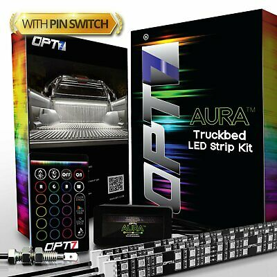 3pc Truck Bed LED Strip Lighting Kit - Multicolor RGB Tailgate Switch Soundsync
