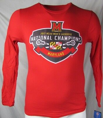 7aa4beff Maryland Terrapins Men's 2017 Lacrosse National Champions L/S T-Shirt M  NCAA A15