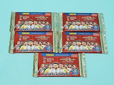 Panini Adrenalyn WM World Cup Russia 2018 Premium 5 x Booster 5  Limited Edition