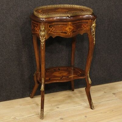 Small table french inlaid furniture table sewing wooden antique style 900