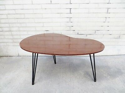 Table basse  tripode haricot années 50