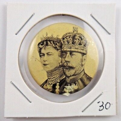 King George V and Queen Mary British Royalty Pin Pinback Button Badge