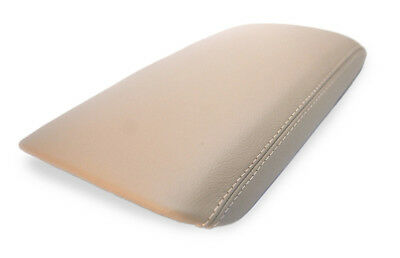 BEIGE STITCHING REAL LEATHER ARMREST COVER FITS FITS HYUNDAI TUCSON 2010-2015