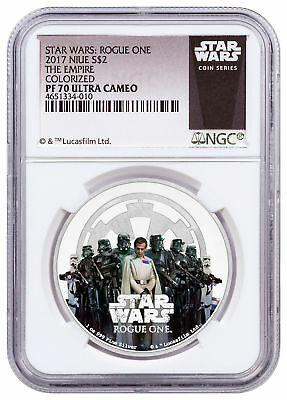 2017 Niue Star Wars Rogue One Empire 1 oz Silver Proof $2 NGC PF70 UC SKU52961