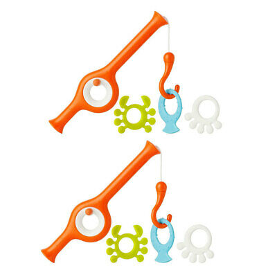 2PK Boon Cast Fishing Pole Bath Time Toy/Game/Play Animal for Baby/Children