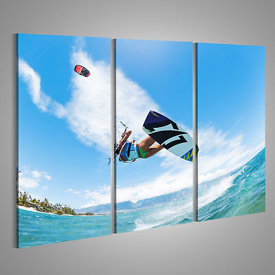Canvas Wall Art Kiteboarding, fun in the ocean, extreme sports CAF-3P