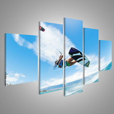 Canvas Wall Art Kiteboarding, fun in the ocean, extreme sports CAF-MFP