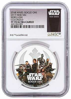 2017 Niue Star Wars: Rogue One - Rebellion 1 oz Silver $2 NGC PF70 UC SKU52963