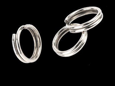 100Pcs 4-10mm Stainless Steel Round Split Rings Small Double Ring Jewelry Making
