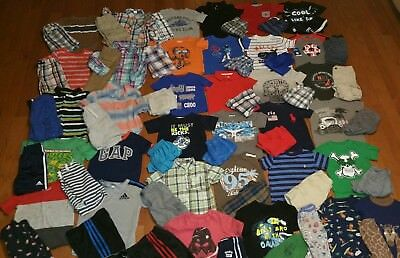 Huge 70pc BOYs 2t SUMMER wardrobe lot  33+ complete outfits nice clothes+