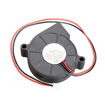 Black Brushless DC Cooling Blower Fan 2 Wires 5015S 12V 0.06A 50x15mm S1#