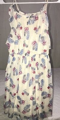 eacac9f8ed0 RUUM KIDS GIRL Size 12 Floral Feather Dress EUC -  4.99