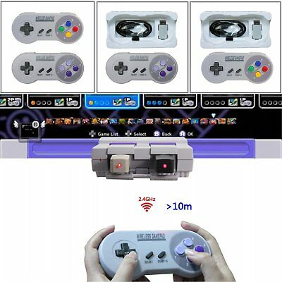 Rechargeable Wireless Controller For Super Nintendo SNES Classic Mini Edition
