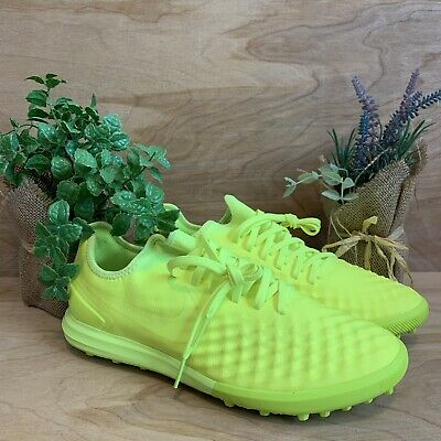 new concept 69553 e5d7e Nike MagistaX Finale TF Soccer Shoes Mens Volt Yellow Green Size 7.5 844446  777