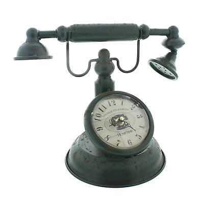 Hometime Metal Mantel Clock - Old Fashioned Telephone