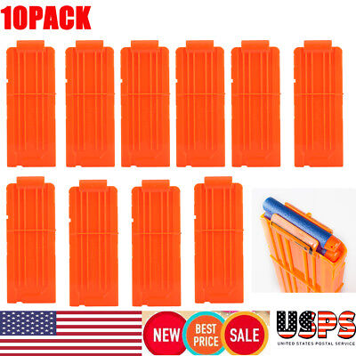 10pcs 12 Round Replacement Magazines Clip For Nerf N-Strike Elite Toy Gun Gifts