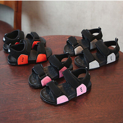 Infant Kids Boys Girls Leather Beach Shoes Sport Casual Walking Summer Sandals