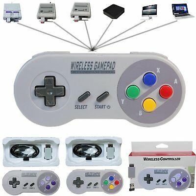 1/2pcs Wireless Controller Gamepad For Super Nintendo SNES Classic Mini Console