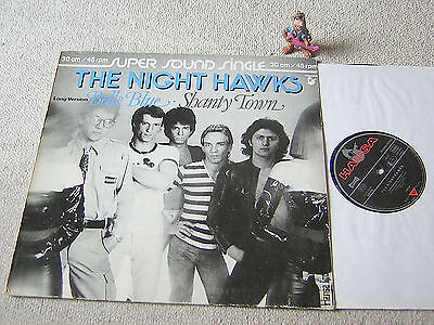 "THE NIGHT HAWKS Belle Blue / Shanty Town rare 1979 12""+PS HANSA 600 076"