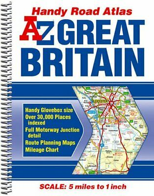 Great Britain Handy Road Atlas by Geographers' a-Z Map Company Spiral bound The