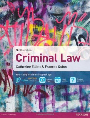 Criminal Law by Quinn, Frances Book The Cheap Fast Free Post