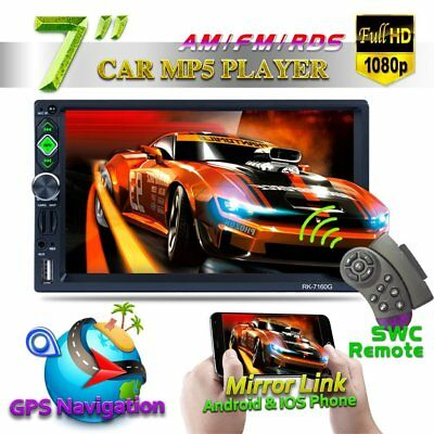 """7160G 7"""" Car MP5 Touch Screen Rear View Bluetooth FM Radio Multimedia Player UK"""