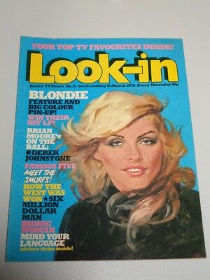 Look-In British Weekly Magazine #11 10Th March 1979 Blondie Bionic Woman