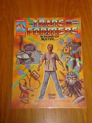 Transformers British Weekly #37 Marvel Uk Comic 1985