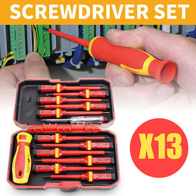 13Pcs Insulated Screwdriver 1000V Magnetic Phillips Slotted Torx Tool Set + Box