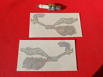 Pair of Road Runner large stickers