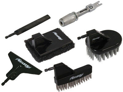 6 Piece Reciprocating Saw Accessory Tool set - scraper brush file scour pad