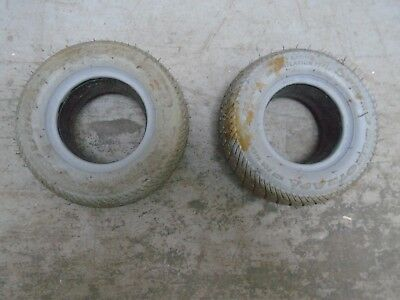 PAIR OF GOOD QUALITY MOBILITY SCOOTER PUNCTURE PROOF TYRES. 8 x 2.50