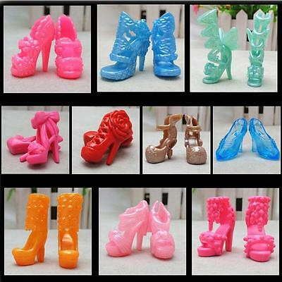 """20 Pcs/10 Pairs Fashion Shoes for 11"""" Barbies Dolls Fixed Styles Color Random ME"""