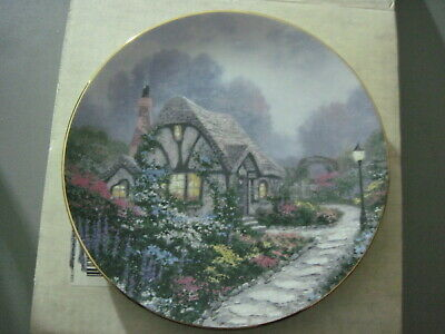 Thomas Kinkade CHANDLER'S COTTAGE #1 GARDEN COTTAGES OF ENGLAND Collector Plate