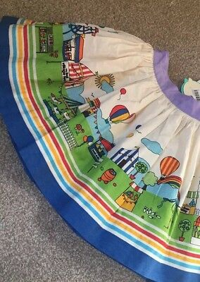 Little Bird By Jools Oliver Fete Print Skirt Rainbow 12-18 Months Retro