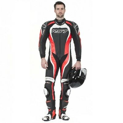 RST Tractech EVO 2 One Piece Leather Race Suit - Fluoro Red