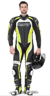 RST Tractech EVO 2 One Piece Leather Race Suit - Fluoro Green