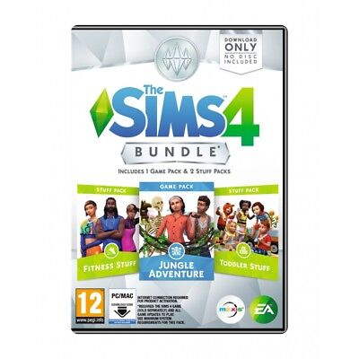 The Sims 4 Bundle Pack 11 (Pc) New Sealed Jungle/toddler/fitness