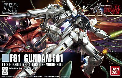 Bandai Hobby HGUC Gundam F91 HG 1/144 Model Kit 185142 US Seller USA NEW
