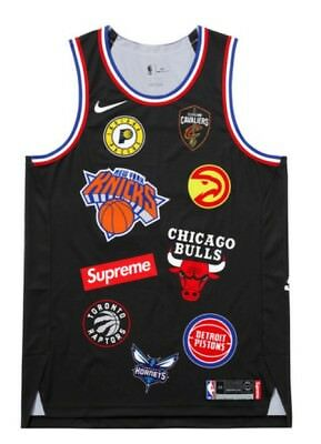 b4bb28c59 Supreme Nike NBA Teams Authentic Jersey Black MEDIUM (44) CONFIRMED  Deadstock