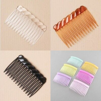7cm Plastic Comb Side Hair Comb Slides Hair Grips - Choice of Colour